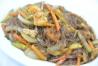 Fideos de soja fritos con gambas